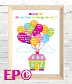 Weiteres - ★ Kindergartenzeit ★ Print 30x45 cm ★ Abschied - ein Designerstück von eazy-peazy bei DaWanda