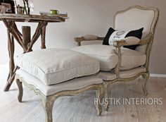 French provincial Louis XV Bergere Chair photographed by Jac Cunningham for Rustik Interiors