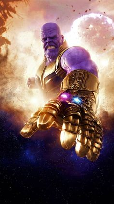 Thanos Avengers Infinity War 2018 HD Mobile Wallpaper. #avengers #avengersinfinitywar