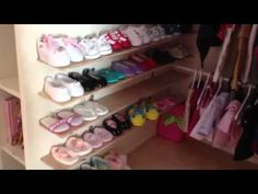 American girl doll house room tour - bathroom and walk in c - YouTube