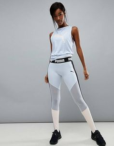 Buy Puma Exclusive To ASOS High Waisted Stirrup Leggings at ASOS. With free delivery and return options (Ts&Cs apply), online shopping has never been so easy. Get the latest trends with ASOS now. Outfits Leggins, Sporty Outfits, Leggings Fashion, Mode Des Leggings, Crop Top And Leggings, Printed Leggings, Legging Sport, Sports Leggings, Gym Outfits