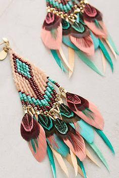 Quetzal Beaded Earrings