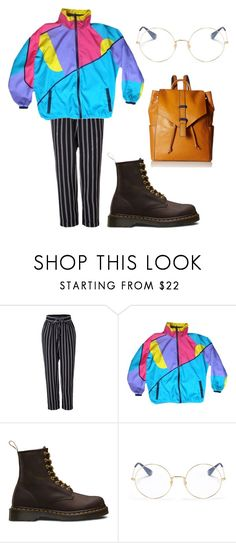 """""""[cries in norwegian]"""" by beauxlune on Polyvore featuring moda, LE3NO, Dr. Martens, Ray-Ban i Vera Bradley"""