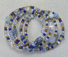 'Denim Blues Wrap Bracelet' is going up for auction at 12am Sun, Jul 29 with a starting bid of $10.