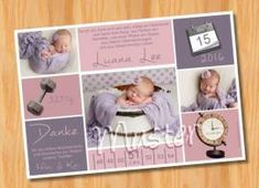 Danksagungskarten Geburt Geburtskarte MUSTER 169 - Bild vergrößern