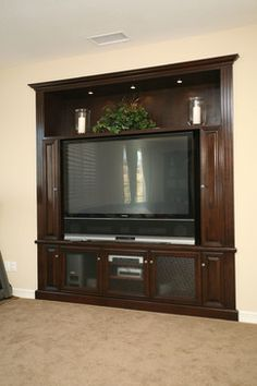 Pacific Coast Custom Design. Entertainment Centers & Built-in Niches.  Built-in media niche
