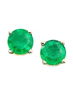 Stylist Pick: #Emerald Stud Earrings, Was $152, SALE: $152 #FallFashion