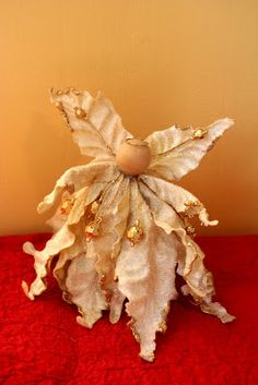 Silk flower Angels.  Little Page Turners: Christmas Favorites! A Little Angel