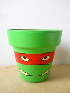 Painted Flower Pots | ... FOR ASHLEY 2 Tmnt Ninja Turtles painted flower pots Raph and Leo