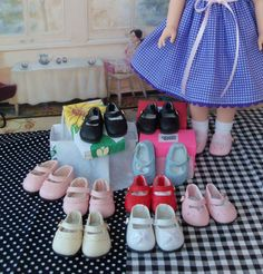 Wellie Wisher Shoes /  Seamstress Model Photography by Farmcookies Girl Doll Clothes, Doll Clothes Patterns, Clothing Patterns, Girl Dolls, American Girl Wellie Wishers, Wellie Wishers Dolls, Doll Crafts, Handmade Clothes, Nice Dresses