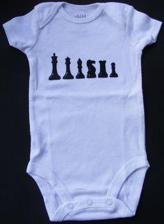 Chess Short Sleeve Onesie by DumaisDesigns on Etsy, $11.25