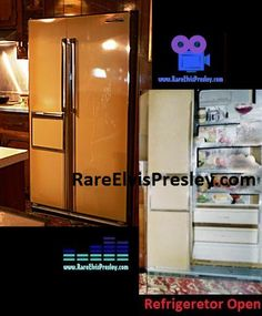 {*Elvis's Kitchen in Graceland & the Fridge on the left is the Graceland fridge. & the one on the right shows ya what it would like inside the design*}