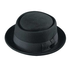 9fedef0f Henschel Men's 100% Wool Felt Porkpie Hat and Grosgrain Ribbon Band and  Bow, Black, Medium at Amazon Men's Clothing store: Breaking Bad Merchandise