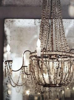 anotherboheminan: (via ZsaZsa Bellagio – Like No Other: Shabby Sweet Love) Chandelier Bougie, Antique Chandelier, Chandelier Lighting, Crystal Chandeliers, Candle Chandelier, Beaded Chandelier, Shabby Chic Chandelier, Country Chandelier, Chandelier Makeover