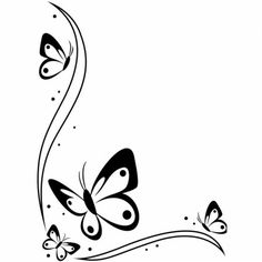 Darice embossing folder with a corner border with butterflies and swirls. This embossing folder will be perfect for any occasion handmade card or scrapbook page. Works in nearly all universal machines such as Cuttlebug,Sizzix, and most others. Crewel Embroidery, Embroidery Designs, Machine Embroidery, Machine Silhouette Portrait, Page Borders Design, Simple Borders, Borders For Paper, Corner Designs, Flower Doodles
