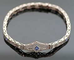 Antique Eduardian Filigree Sapphire and Diamond by SITFineJewelry, $2450.00