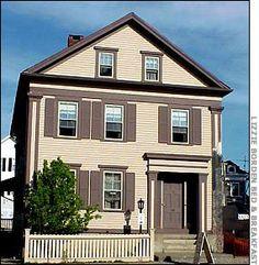 Lizzie Borden House- in Fall River, Massachusetts
