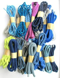 Cotton cords and silk cords ready to fly to their new owner.