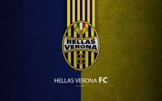 Download wallpapers Hellas Verona FC, 4k, Italian football club, Serie A, emblem, logo, leather texture, Verona, Italy, Italian Football Championships