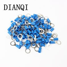 RV2-8 Blue Ring insulated terminal Cable Wire Connector 100PCS/Pack suit 1.5-2.5mm cable Electrical Crimp Terminal RV2.5-8 RV