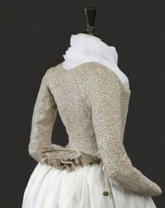 A LADY'S PIERROT JACKET OF PRINTED COTTON, CIRCA 1790
