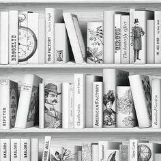 Book Wallpaper Bathroom Modern Vintage Library Downstairs Toilet Painted Furniture Bungalow Peculiar Children Architecture