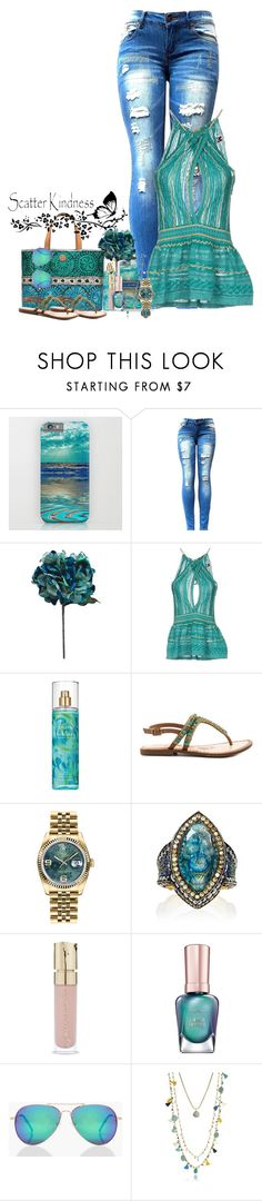 """Teal"" by denisewood ❤ liked on Polyvore featuring M Missoni, Tory Burch, Britney Spears, Naughty Monkey, Rolex, Sevan Biçakçi, Sally Hansen and Boohoo"