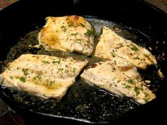Pan Seared Lemon Pepper Rainbow Trout- Quick and easy Rainbow Trout recipe, pan seared in fresh lemon juice and fresh ground pepper.