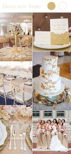 elegant gold and ivory wedding color scheme 2017