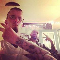 When I was in San Diego, California (about a month ago) with my great friend, Herbie Hernandez, posing for a tattoo selfie! Mischa Batiste TattooFanatic TattooedTraveler Joligard MischaJoligard SanDiegoCalifornia SouthernCalifornia Tattoos Tatto