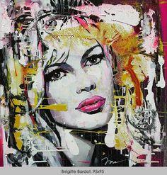 Ira Tsantekidou / Brigitte Bardot / 95x95cm