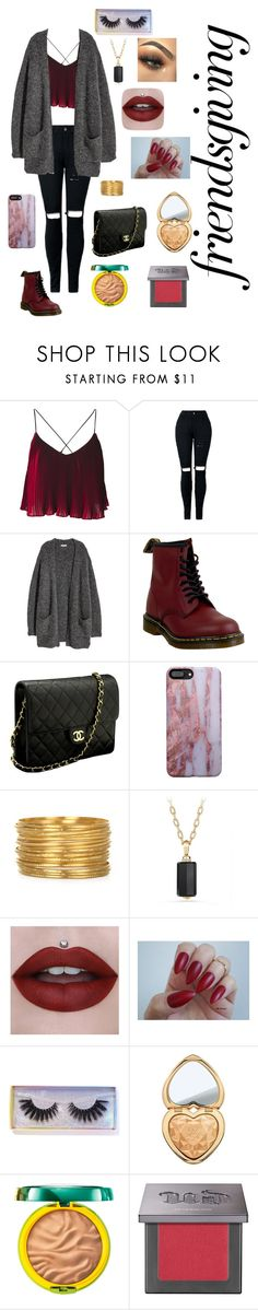 """Friendsgiving"" by abbyboudreau ❤ liked on Polyvore featuring Dr. Martens, Chanel, David Yurman, Featherella, Too Faced Cosmetics, Physicians Formula and Urban Decay"