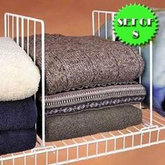 Awesome Shelf Dividers For Your Closet ~ Day #20
