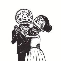 Día de los muertos, pareja