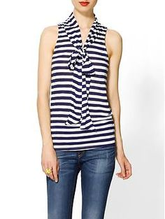 Pim + Larkin Striped Bow Knit Tank | Piperlime