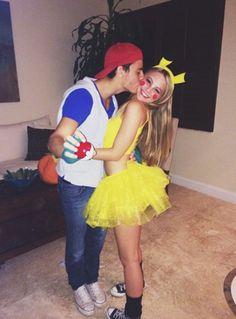Couples Costume Pokemon Ash and Pikachu