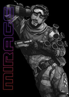 9 Best Apex Legends Black & White Neon Characters Displate Posters