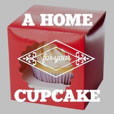 Verschenken Sie Cupcakes in einer stabilen sowie dekorativen Schachtel, die Ihr Gebäck schützt. #Cupcakeschachtel