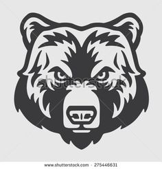 Find Bear Head Logo Mascot Emblem stock images in HD and millions of other royalty-free stock photos, illustrations and vectors in the Shutterstock collection. Thousands of new, high-quality pictures added every day. Bear Head, Bear Face, Bear Stencil, Stencil Logo, Logo Inspiration, Bear Drawing, Bear Logo, Vector Art, Bear Vector