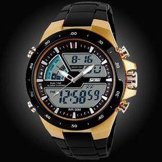 50M Waterproof Silicone Sport Watch - Shockproof - Digital- Analog