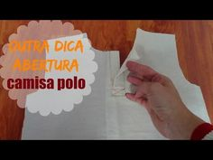 COSTURA FACIL..Pegado de pechera polo box tipo TOMY - YouTube Diy Camisa, Apparel Design, Crochet Baby, Sewing Patterns, Projects To Try, Make It Yourself, Blog, Youtube, Chiffon