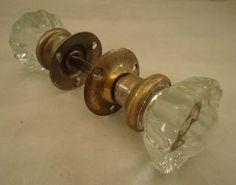 Vintage Glass Door Knob Handles & Hardware