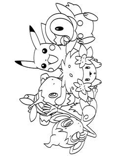 Download Or Print The Free A Pokemon Crew Coloring Page And Find