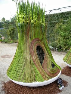 you too can now live in an asparagus house Art Floral, Deco Floral, Floral Design, Land Art, Outdoor Art, Outdoor Decor, Inspiration Artistique, Organic Art, Weaving Art