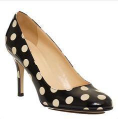 Kate Spade polka dot karolina shoe I want these so badly!