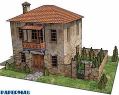 PAPERMAU: Two Storey Roman House Paper Model - by Papermau - Next Project