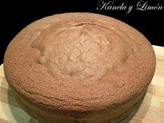 Bizcocho de chocolate para tartas