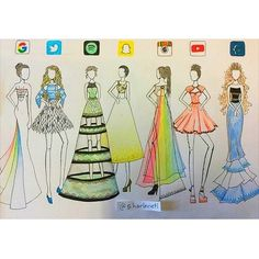 Social Media Runway Dresses