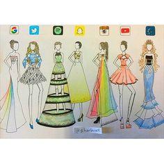Social Media Runway Dresses
