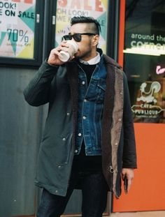 A men's fashion/lifestyle moodboard featuring men's street style looks, beards and various facial hair styles, tattoo art, inspiring street fashion photography, and clothing from the best menswear labels and streetwear brands. Style Casual, Men Casual, Looks Style, My Style, Style Urban, Style Masculin, Look Street Style, Layered Fashion, Stylish Men